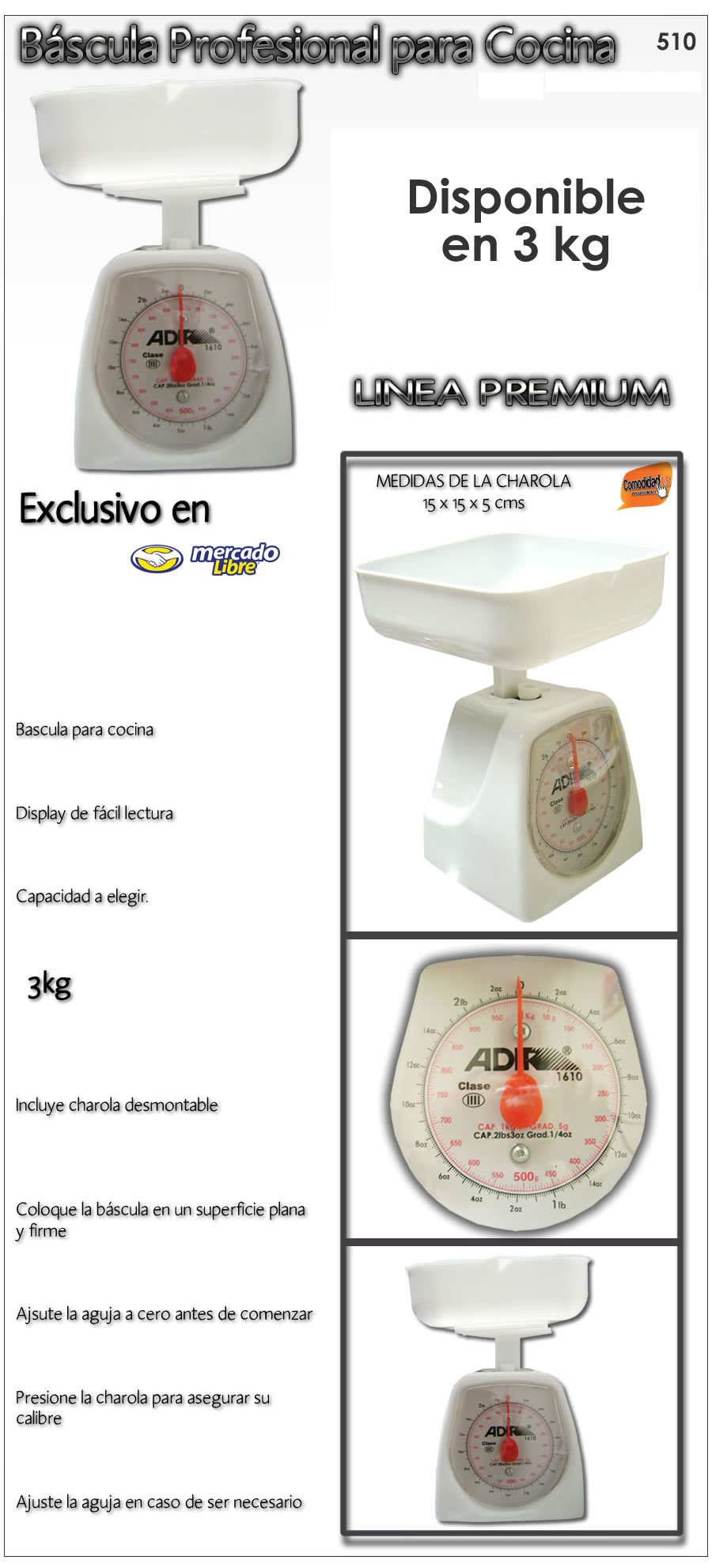 Bascula profesional precision disponible en 1 3 0 5 kgs for Bascula de precision cocina