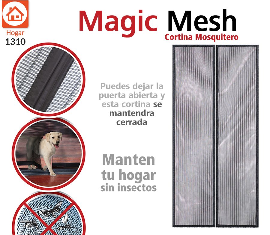 4 Mosquiteros Con Cierre Magn Tico Magic Mesh Repelente
